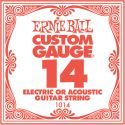 Ernie Ball EB-1014, Single .014 Plain Steel string for Eletric or