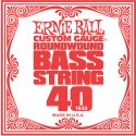 Musikinstrumenter, Ernie Ball EB-1640, Single .040 Nickel Wound string for Electric Bass
