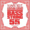 Musikinstrumenter, Ernie Ball EB-1655, Single .055 Nickel Wound string for Electric Bass