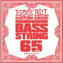 Musikinstrumenter, Ernie Ball EB-1665, Single .065 Nickel Wound string for Electric Bass