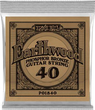 Ernie Ball EB-1840, Single .040 Wound Earthwood Phosphor Bronze str