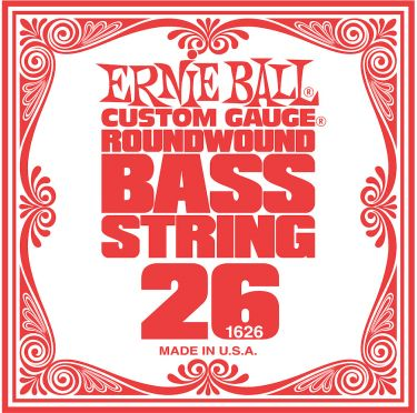 Ernie Ball EB-1626, Single .026 Nickel Wound string for Electric Bass
