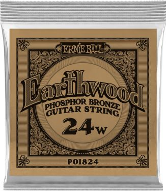 Ernie Ball EB-1824, Single .024 Wound Earthwood Phosphor Bronze str