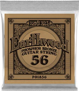 Ernie Ball EB-1856, Single .056 Wound Earthwood Phosphor Bronze str