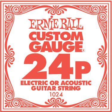 Ernie Ball EB-1024, Single .024 Plain Steel string for Eletric or