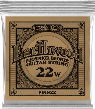Ernie Ball EB-1822, Single .022 Wound Earthwood Phosphor Bronze str