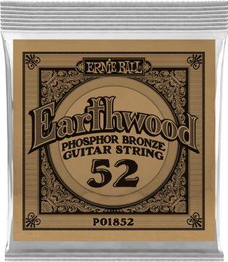 Ernie Ball EB-1852, Single .052 Wound Earthwood Phosphor Bronze str