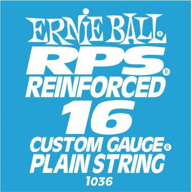 Ernie Ball EB-1036, Single .016 RPS Reinforced Plain Steel string f