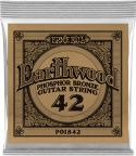 Musikinstrumenter, Ernie Ball EB-1842, Single .042 Wound Earthwood Phosphor Bronze str