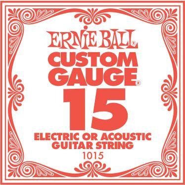 Ernie Ball EB-1015, Single .015 Plain Steel string for Eletric or