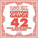 Diverse, Ernie Ball EB-1142, Single .042 Nickel Wound string for Eletric gui