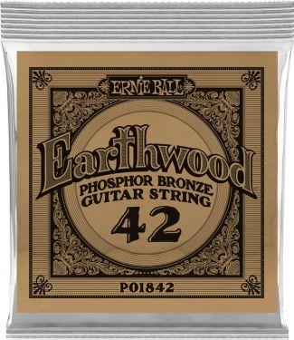 Ernie Ball EB-1842, Single .042 Wound Earthwood Phosphor Bronze str