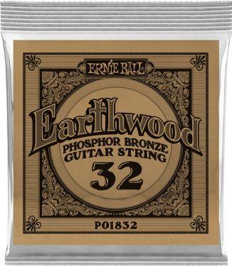 Ernie Ball EB-1832, Single .032 Wound Earthwood Phosphor Bronze str