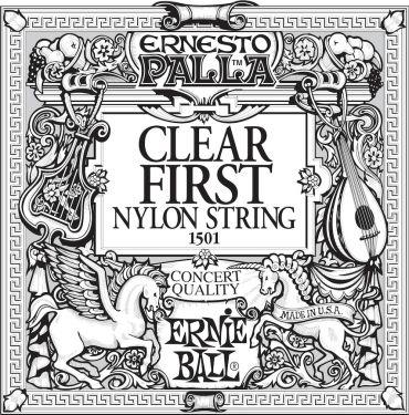 Ernie Ball EB-1501, Single E1 (1st) Ernesto Palla Clear Nylon strin