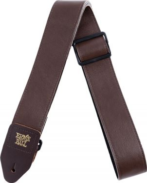 Ernie Ball EB-4135 Italian Leather Strap Brown, Durable and comfort