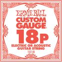 Ernie Ball EB-1018, Single .018 Plain Steel string for Eletric or