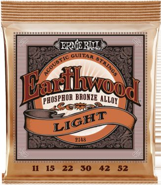 Ernie Ball EB-2148, Earthwood Phosphor Bronze Light 11-52