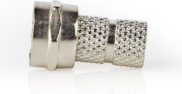 Nedis F-kontakt | Hann | For 5,5 mm koaksialkabler | 25 stykker | Metall, CSVC41907ME