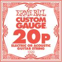 Ernie Ball EB-1020, Single .020 Plain Steel string for Eletric or