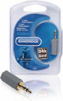 Bandridge Stereo Audio Adapter 3.5 mm Han - 2.5 mm Hun Grå, BAP442