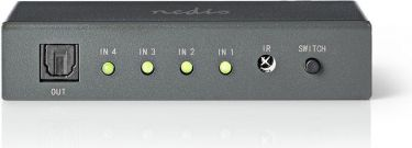 Nedis Optical Audio Switch | 4-port - 4x Toslink Input | 1x Toslink Output, ASWI2504AT