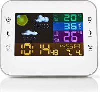 Nedis Vejrstation | Trådløs sensor | Alarmur | Vejrudsigt, WEST402WT
