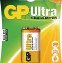 GP Alkaline Batteri 9 V Ultra 1-Blister, 0301604AU-U1