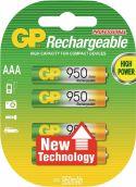 GP Oppladbart NiMH Batteri AAA 1.2 V 950 mAh 4-Blister, 120100AAAHCC4