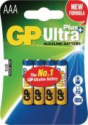GP Alkaline Batteri AAA 1.5 V Ultra+ 4-Blister, 03024AUP-U4