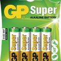 GP Alkaline Battery AA 1.5 V Super 4-Blister, 03015AC4