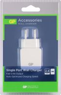 GP Wall Charger 1-Output 2.4 A USB White, WA23