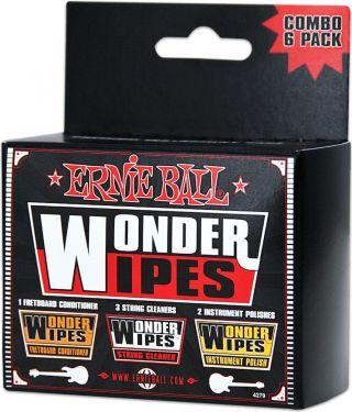 Ernie Ball EB-4279 Wonderwipes Multipack, Assorted Wonderwipes for