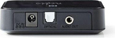 Nedis Trådløs lydmodtager | Bluetooth® | Toslink-udgang | 3,5 mm udgang | Sort, BTRC110BK
