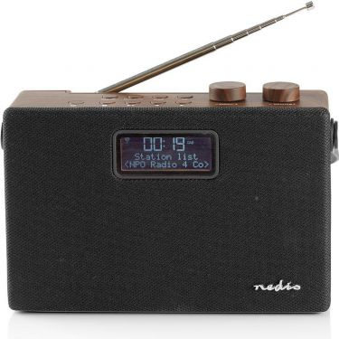 Nedis Digital DAB+-radio | 15 W | FM | Bluetooth® | Brun/sort, RDDB4320BN