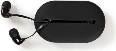 Nedis Hovedtelefoner med kabel | In-ear | Rejseetui | 1,2 m fladt kabel | Sort, HPWD1020BK