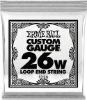Diverse, Ernie Ball EB-1326, Single .026 Wound Loop End Stainless Steel stri