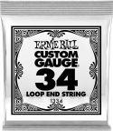 Diverse, Ernie Ball EB-1334, Single .034 Wound Loop End Stainless Steel stri