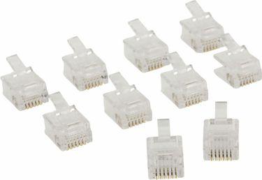 Valueline Telecom Connector RJ12 Male PVC Transparent, VLTP90933T