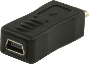 Valueline USB 2.0 Adapter Micro B Male - Mini 5-Pin Female Black, VLCP60904B