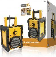 basicXL Portable FM Radio FM / AM Yellow/Black, BXL-HDR10