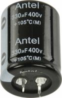 Komponenter, Fixapart Snap-In Elektrolytisk Kondensator 330 uF 400 VDC, 330/400S3040