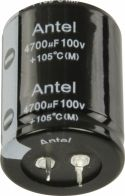 Komponenter, Fixapart Snap-In Elektrolytisk Kondensator 4700 uF 100 VDC, 4700/100S3545