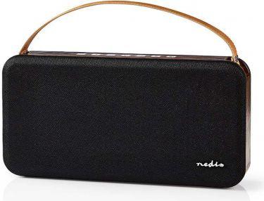 Nedis Bluetooth®-højttaler | 45 W | Vandtæt | Bærehåndtag | Sort/brun, SPBT35101BN