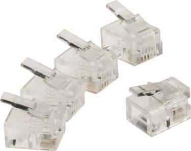 Valueline Telecom Connector RJ11 Male PVC Transparent, VLTP90923T