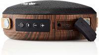Nedis Bluetooth®-højttaler | 24 W | Vandtæt | Bærehåndtag | Sort/brun, SPBT37100BN