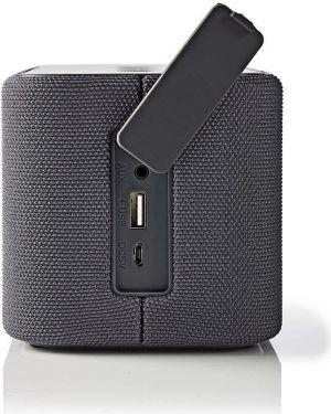 Nedis Bluetooth®-højttaler   2 x 45 W   True Wireless Stereo (TWS)   Vandtæt   Grå, SPBT2003GY