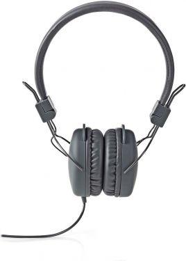 Nedis Hovedtelefoner med kabel | On-ear | Foldbar | 1,2 m rundt kabel | Grå, HPWD1100GY