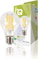 Belysning, HQ LED Vintage glødelampe Dæmpbar A60 7.7 W 1055 lm 2700 K, HQLFE27A60008
