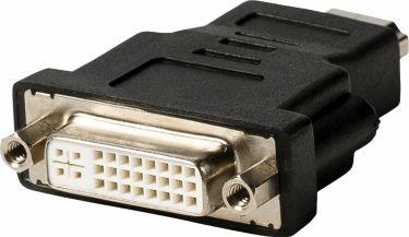 Valueline High Speed Hdmi Med Ethernet Adapter HDMI-Stik - DVI-D 24 + 1-Pin Hun Sort, VLVB34910B