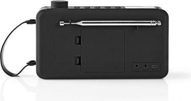 Nedis Digital DAB+-radio | 12 W | FM | Bluetooth® | Sort/sort, RDDB4300BK